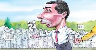 Image result for pete buttigieg caricature